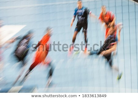 Man throwing ball during handball game Stock photo © photography33