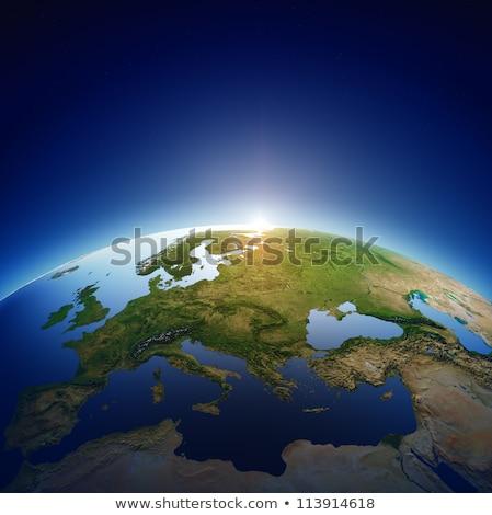 UK map over blue sea Stock photo © claudiodivizia