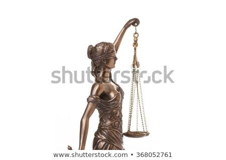 Blindfold lawyer holding book Stock photo © erierika