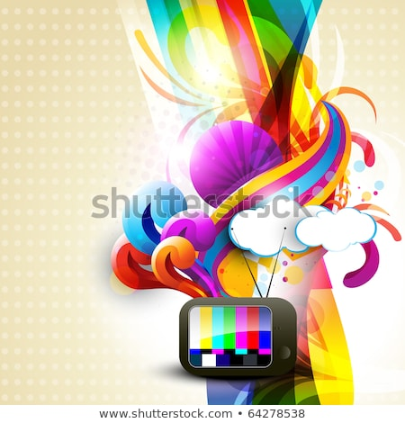 Abstract Colorful Floral With Sound Stockfoto © PinnacleAnimates