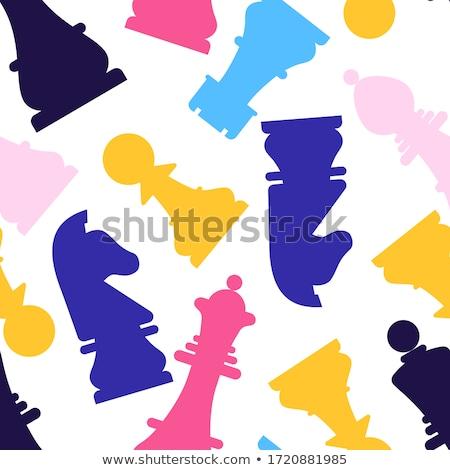 xadrez · projeto · azul · jogar · conselho · estilo - foto stock © carodi