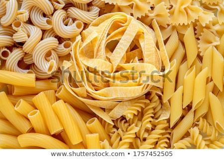 ストックフォト: パスタ · 小麦 · スタジオ · 農業 · 新鮮な · スパゲティ