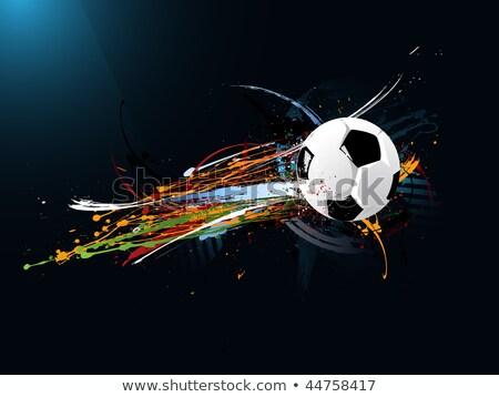 koszos · absztrakt · grunge · futball · festék · sportok - stock fotó © fet