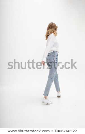 young beautiful girl in jeans stock photo © pzaxe