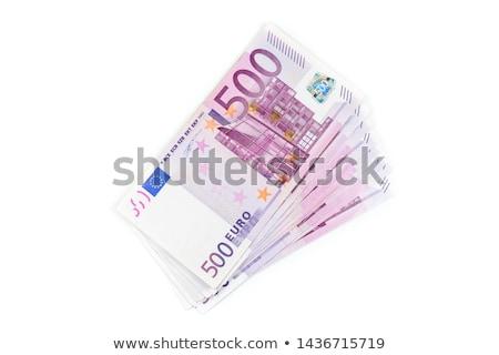 500 · Euro · pénz · bankjegyek · arany · gemkapocs - stock fotó © illustrart