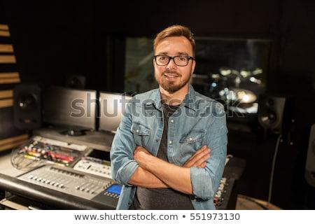 Audio Engineer Mixing Board stock photo © filmstroem