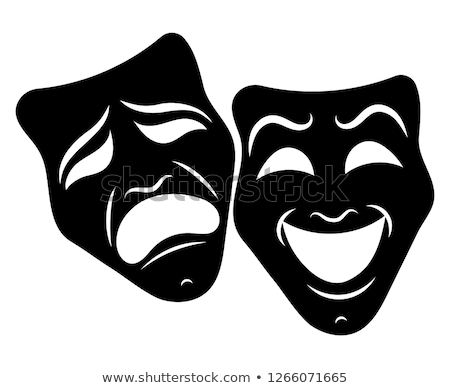 Tragedia komedia maski teatr sztuki smutne Zdjęcia stock © Dazdraperma