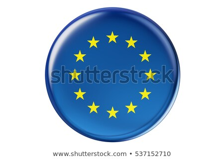 3d rendering of a badge with the flag of Europe stock photo © shutswis