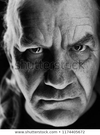 Ameaçador homem isolado branco negócio azul Foto stock © pzaxe