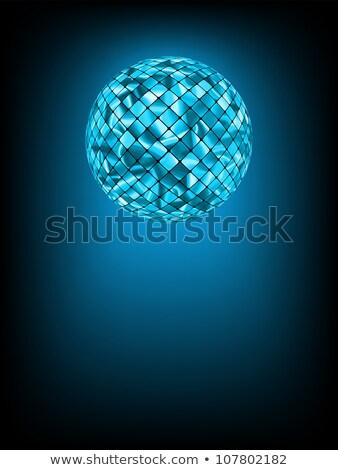 Diszkógömb izzik pára eps vektor akta Stock fotó © beholdereye