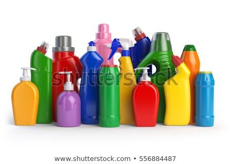 Plastik deterjan şişe beyaz sığ kimyasal Stok fotoğraf © broker