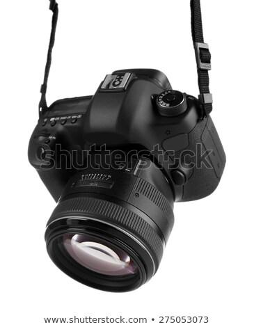 Digitale professionali fotocamera teleobiettivo coprire Foto d'archivio © broker