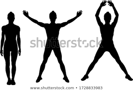 Stock photo: Jumping to the Stars