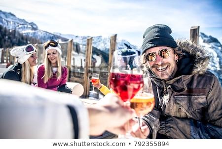 肖像 · 若い女性 · スキー · リゾート · 少女 · 笑顔 - ストックフォト © photography33
