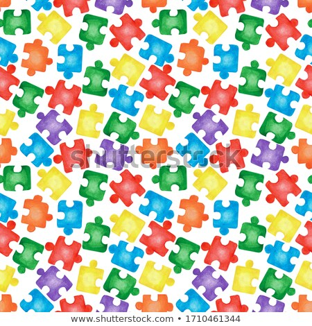 Jigsaw puzzle seamless pattern Stock photo © fixer00