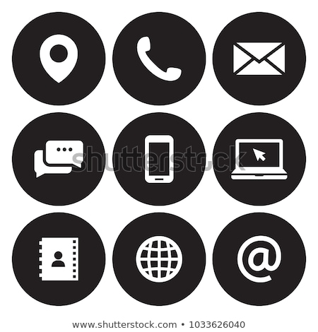 at mail sign contact vector icon stock photo © leonido