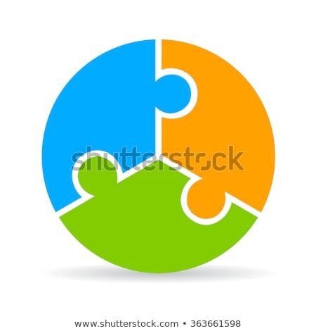 Three piece jigsaw Stock photo © RTimages