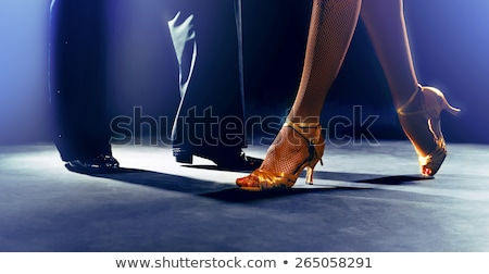salsa dancing couple in ballroom stock photo © feedough