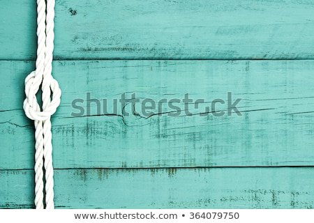 Сток-фото: Ship Rope And Weathered Wood Background
