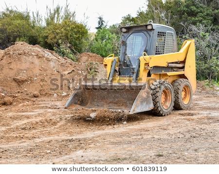 Kicsi buldózer építkezés kosz gép vödör Stock fotó © ca2hill