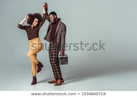 fiatal · gyönyörű · afroamerikai · férfi · testmozgás · tini · tinédzser - stock fotó © get4net