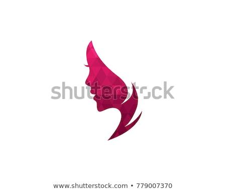 Sevmek kalp şekli kadın yüzü siluet kalp güzellik Stok fotoğraf © creative_stock