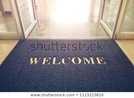 приветствую ковер тесные двери древесины недвижимости Сток-фото © pcanzo