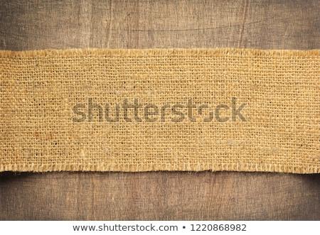 burlap hessian sacking on wood background  Stock photo © inxti