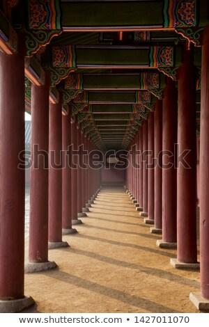 Korean Gatehouse Details Stock photo © searagen