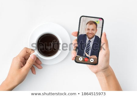 stock photo collage of business people having phone conversation at the office