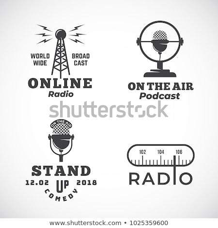 Stockfoto: Vintage · radio · geïsoleerd · witte · muziek · hout