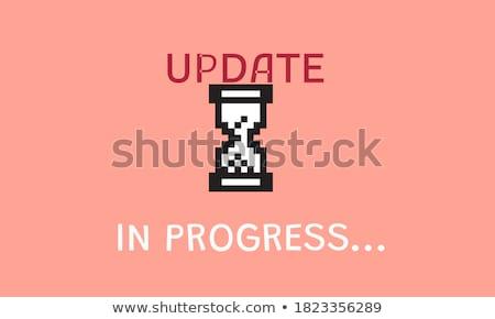 アップデート 言葉 赤 色 文字 白 ストックフォト © tashatuvango