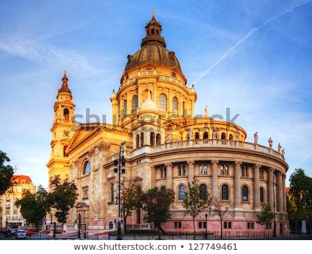 bazylika · Budapeszt · Węgry · noc · domu · budynku - zdjęcia stock © andreykr
