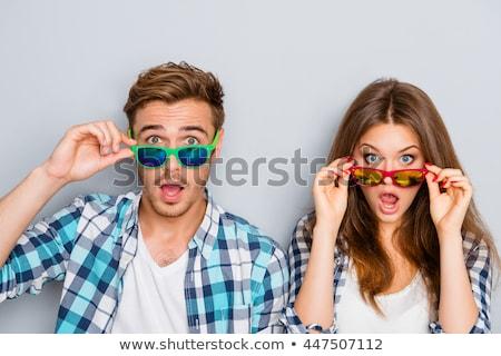 Vrouw verrassend man glimlach paar mannen Stockfoto © photography33