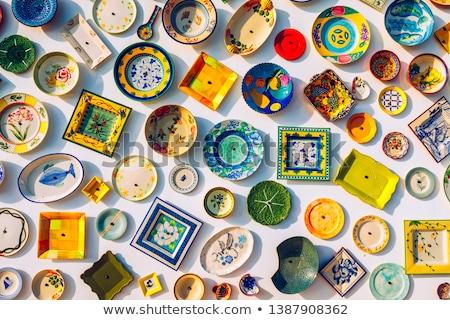 Kleurrijk christmas tijd kerk markt kleur Stockfoto © jkraft5