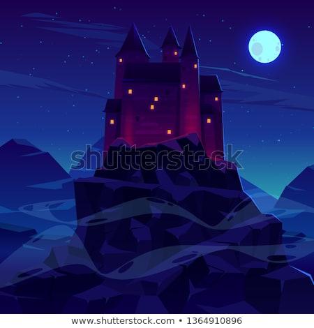 Starożytnych wampira światło księżyca rok komfort grobu Zdjęcia stock © AlienCat