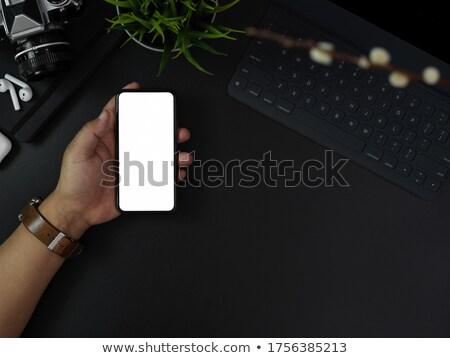Smartphones donkere drie verschillend kleuren teken Stockfoto © Quka