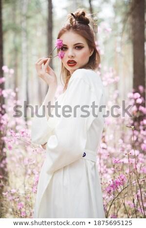 брюнетка женщину традиционный гейш стиль лице Сток-фото © wavebreak_media