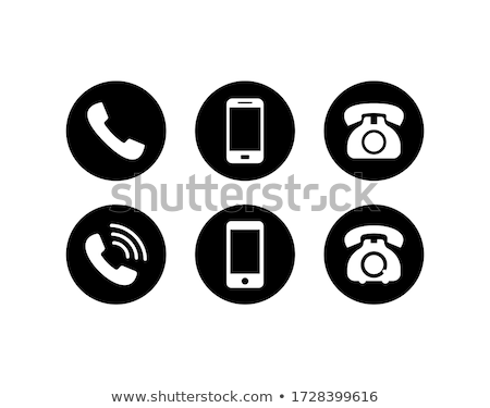 handset, support, web interface icon Stock photo © make