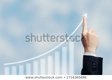 Negocios éxito gráfico senalando símbolo Foto stock © Lightsource