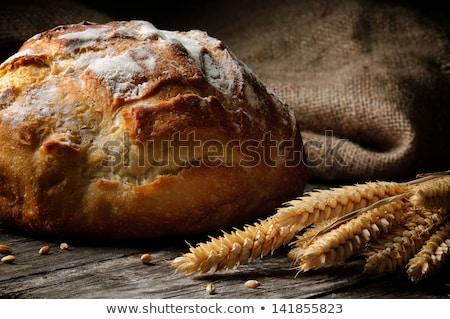 Rústico pão pão lado trigo escuro Foto stock © Rob_Stark