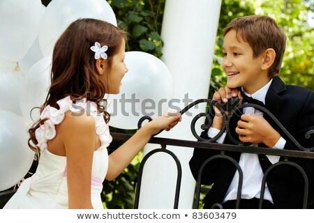 giovani · bella · sposa · preparazione · home · wedding - foto d'archivio © luckyraccoon
