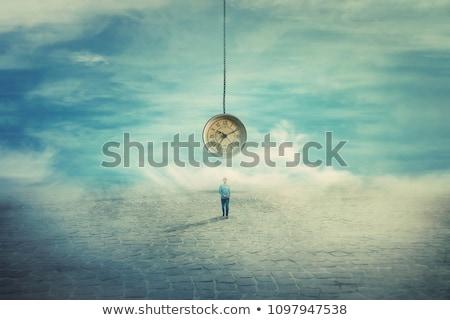 tiempo · pensar · reloj · palabras · metal - foto stock © ivelin