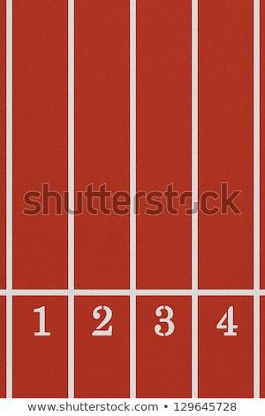 número · quatro · corrida · seguir · atletismo - foto stock © stevanovicigor