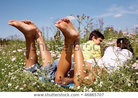 attractive woman barefoot in summertime outdoor Stock photo © juniart