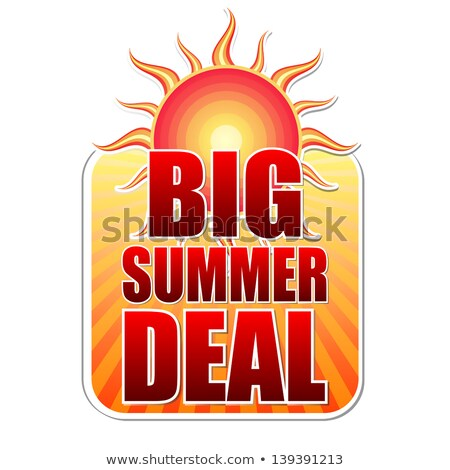big summer deal in label with sun Stock photo © marinini