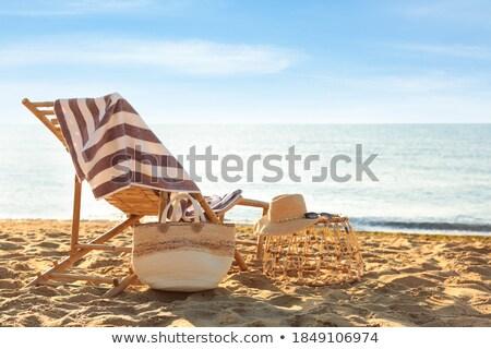 edad · a · rayas · silla · de · madera · aislado · blanco · casa - foto stock © marfot