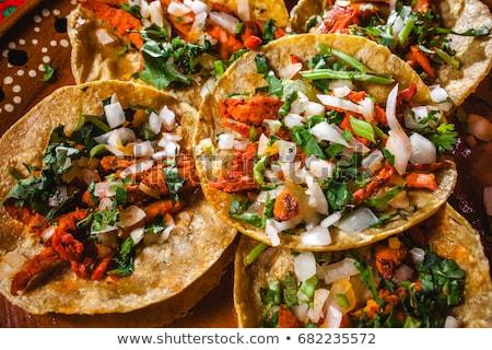 Mexikóváros utcai étel piros citromsárga burgonyaszirom eladva Stock fotó © jkraft5