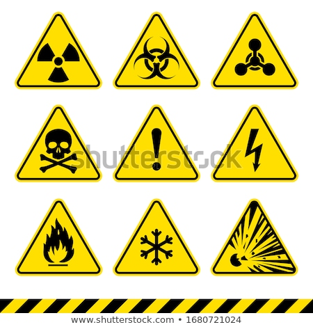Biohazard And Radioactive Warning Signs Stock photo © fizzgig