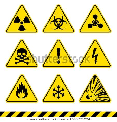 Radioattivo allarme segni lucido simboli Foto d'archivio © fizzgig
